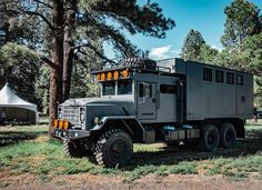 Big trucks abound at Overland Expo West this year. Overland Truck, Overland Trailer, Expedition Vehicle, Volvo Trucks, Chevrolet Trucks, 1957 Chevrolet, Chevrolet Impala, 6x6 Truck, Truck Camper