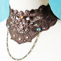 vintage lace collar necklace - Google Search