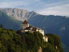 Hilltop castle in Litchenstein