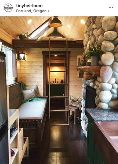 agreeable tiny house portland oregon. love the stone work Tiny Rustic for Six A rustic tiny house design a family of six  built by