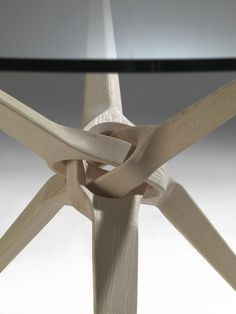 Round crystal table GROOVE By Porada design Idelfonso Colombo Unique Furniture, Wooden Furniture, Furniture Design, Furniture Nyc, Cheap Furniture, Furniture Plans, Furniture Inspiration, Design Inspiration, Joinery Details