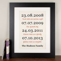 Personalised The Family Print | GettingPersonal.co.uk