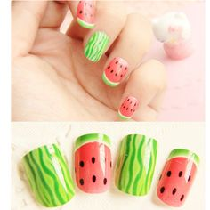 Remember this for next summer...'cuz these are soooo doable w/o the fake nails!