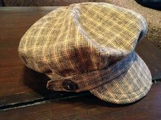 Free Newspaper Boy Hat PDF Sewing Pattern  on Burda, you have to login but it is a great learning site, they also answer questions. Mario or Luigi Hat??