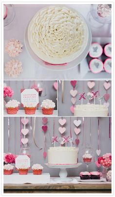 Valentines Party Inspiration | http://www.100layercake.com/blog/2012/02/14/floridian-weddings-glitter-cupcakes-champagne/
