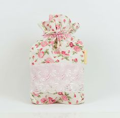 SALE:Floral Cotton Hot Water Bottle Cover by MoonlightCompany