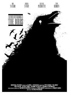 Reelizer Presents: Film Art of Alfred Hitchcock The Birds Movie, Alfred Hitchcock The Birds, Crow Movie, Weird Birds, Empire, Movie Poster Art, Film Posters, Cinema Film, Alternative Movie Posters