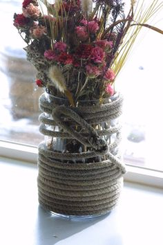 Lariat (cowboy rope) Hurricane vase. Or for a candle?! On Etsy for only $45!