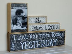 I want this for our one year anniversary!!----Personalized Wedding gift/Decoration Happily Ever by FayesAttic11, $25.00