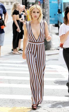 Emma Roberts from The Big Picture: Today's Hot Pics  The Scream Queens star takes a plunge with her outfit choice while out and about in New York City.