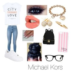 """"""""""" by jazzy0725 ❤ liked on Polyvore featuring Violeta by Mango, NIKE, GUESS, Charlotte Tilbury, Loushelou, Vita Fede, MICHAEL Michael Kors, Victoria's Secret, women's clothing and women's fashion"""