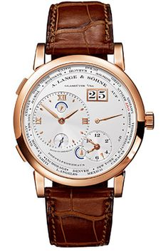 A Lange and Sohne 1 Time Zone Silver Dial Mechanical Mens Watch 116032 $37,350