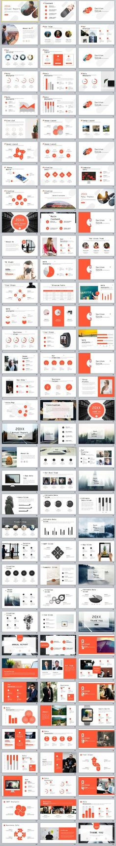 4in1 Best Creative annual report PowerPoint Template