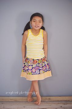 Navy floral twirl skirt for girls   2T  7Y by GenerationsInStyle, $25.00