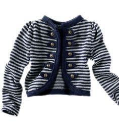 """Modèle veste style """"officier-marin"""" - Modèles tricot enfant - Phildar"""