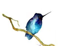 American Robin Original watercolor painting 10 x 8 by ORIGINALONLY