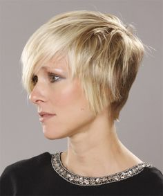 Short Hairstyle - Straight Casual - | TheHairStyler.com