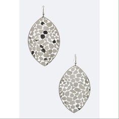 "Laser cut filigree leaf earrings 2.35"" drop. Lead & nickel compliant. Jewelry Earrings"