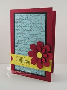 Heat Embossing with Two Colours by BronJ - Cards and Paper Crafts at Splitcoaststampers