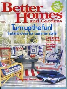 better homes and gardens magazine july 2005 gently read copy back issue. beautiful ideas. Home Design Ideas
