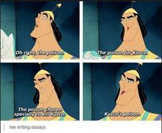 when i try to write an essay...
