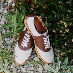d44b0b2bd0999e Susie Classic Saddle Shoes in Brown White by Royal Vintage Shoes