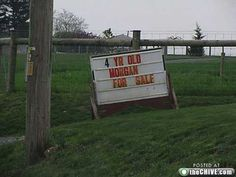 """I'm """"pretty sure"""" the sign is referring to a horse and not a child...but I could be wrong."""