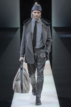 Giorgio Armani Men's RTW Fall 2015 [Photo by Davide Maestri]