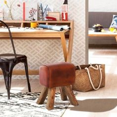 Retro Style gymnastics horse pommel bench stool L Shop our full collection of Seating here at Vinterior Retro Furniture, Home Furniture, Furniture Design, Reclaimed Wood Kitchen, Industrial Bar Stools, Leather Stool, Leather Chairs, Office Chair Without Wheels, Room Corner