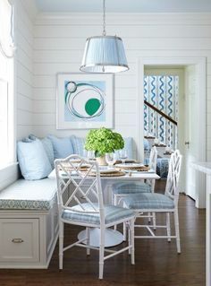 Breakfast Nook - Blue & White