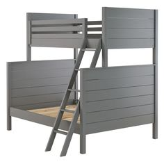 Shop Uptown Twin-Over-Full Bunk (Grey).  Our Uptown Twin-Over-Full Bunk Bed features clean, crisp lines for a modern look in four neutral and easy-to-coordinate finishes.