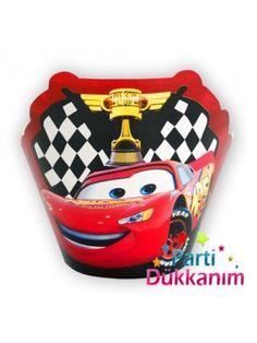 Cars Cupcake Süsü (10 adet) #Kek Etiketleri #Kek Süsleri #Kek Malzemeleri