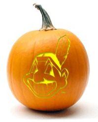 Cleveland Indians pumpkin stencils