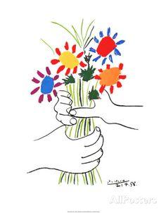 Little flowers Poster van Pablo Picasso bij AllPosters.nl