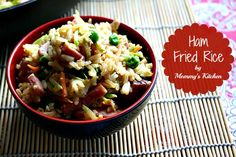 Mommy's Kitchen - Old Fashioned & Country Style Cooking: Ham Fried Rice {Leftover Ham Recipe}