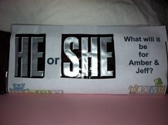 Love this idea for a gender reveal party! Hershey bar baby shower ...
