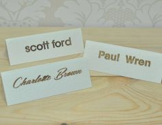 Elegant Laser Cut Place Cards by Sweet Pea Design, the perfect gift for Explore more unique gifts in our curated marketplace. Wedding Places, Font Styles, Table Cards, Table Numbers, Laser Cutting, Unique Gifts, Place Cards, Wedding Invitations, Place Card Holders