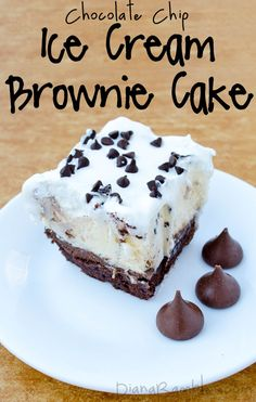 Chocolate Chip Ice Cream Brownie Cake | Diana Rambles - Featured at the #HomeMattersParty 37