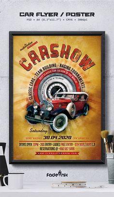 Car Show Flyer By Gurhan Canturk Via Behance  My Works