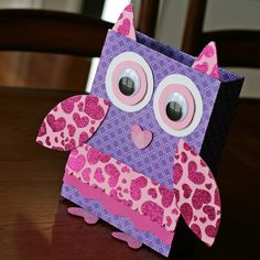 """Valentine Box - """"Owl be your Valentine"""" made from a cereal box :)"""