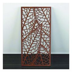 Laser Cut Privacy Screen - Magnification - Contact us for enquires #screens #leaves #art #metaldesign #lasercut #rust #corten #design by enfrexdesigns
