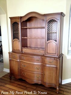 How many of us rejected one of these??? See charming redo at: From My Front Porch To Yours: French Country Hutch Reveal