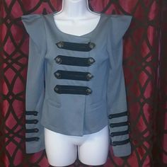 Gracia military top/jacket Super cute Gracia military top/jacket dark tan or medium brown , it's a 100% polyester in great condition,  **please make a reasonable offer ** Gracia Jackets & Coats