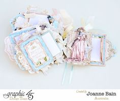 Don't you love the details on each page of this tag album? This beauty is by Joanne using Gilded Lily #graphic45
