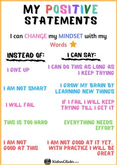 Self care & growth mindset Growth Mindset For Kids, Growth Mindset Classroom, Growth Mindset Activities, What Is Growth Mindset, Growth Mindset Lessons, Growth Mindset Quotes, Positive Affirmations For Kids, Positive Mindset, Coping Skills