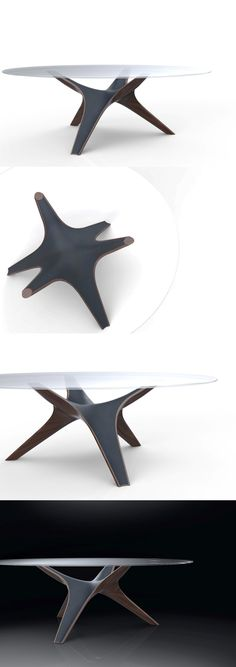 Nature-inspired design is quite a popular tool in the designer's arsenal. Most designs are inspired by nature and natural phenomena. Some choose to celebrate it, others not as much. #Table #Designer #GlassTop #YankoDesign
