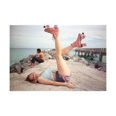 roller skates | Tumblr ❤ liked on Polyvore featuring pictures, photos, girls and…