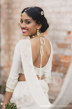 Puba + Devin: Vintage Sri Lankan Wedding in Melbourne by Shevan J Photography - stunning tie back blouse - hair accessories and Sri Lankan wedding jewellery - wedding day photo shoot - Sri Lankan wedding - Sri Lankan bride - Sri Lankan groom Wedding Sari, Wedding Attire, Wedding Bride, Wedding Dresses, Wedding Ideas, Wedding Stuff, Wedding Outfits, Wedding Bells, Wedding Inspiration