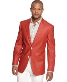 Linea Uomo Orange Sport Coat | Summer Sport Coats | Pinterest