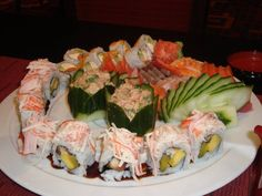 Holy sushi!  Spread on the Norwegian Jade ship.